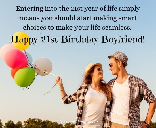 Best 21st Birthday Wishes And Messages For Boyfriend Happy 21st Birthday Wishes 21st Birthday Wishes Birthday Wishes For Boyfriend