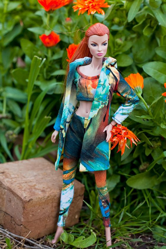 Colourful leisure wear for Fashion Royalty by Margellendollstyle, $40.00