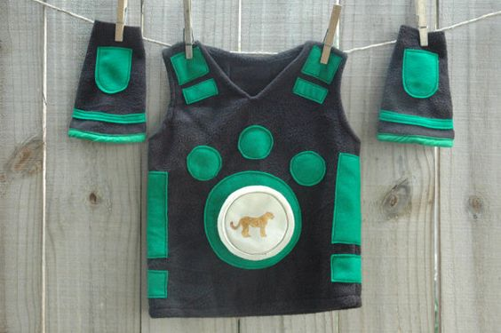 Discontinued Set Wild Kratt Inspired Creature Power Suit - Green Includes Vest, Cuffs, Cheetah Power Disk - Size 2T-3T Only - Ready to Ship via Etsy