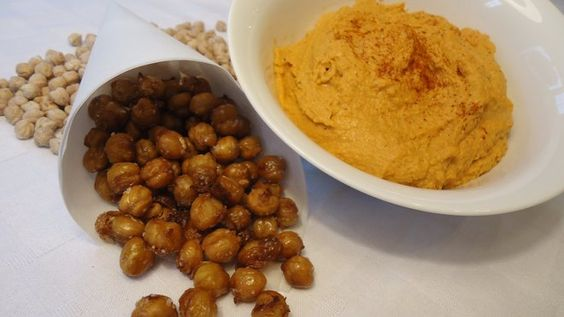 Garbanzo beans — also called chickpeas, which can be used to make hummus — are a good source of protein, zinc and folate, and are very high in fiber.
