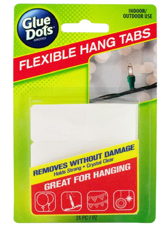 Hang balloons, banners, streamers and more, worry-free with Flexible Hang Tabs, new from Glue Dots®!
