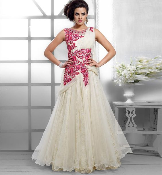 Glam off white gown vdpak1047 | Products, Gowns and White gowns