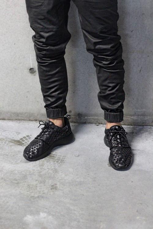 new product 7882b eb006 black leather joggers mens fashion style nike shoes www.dripcult.com   fashion  Pinterest  Leather joggers, Nike fashion and Mens joggers