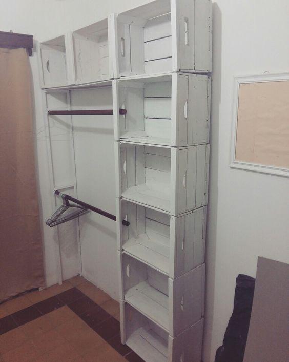 Eco closet, cajones de madera