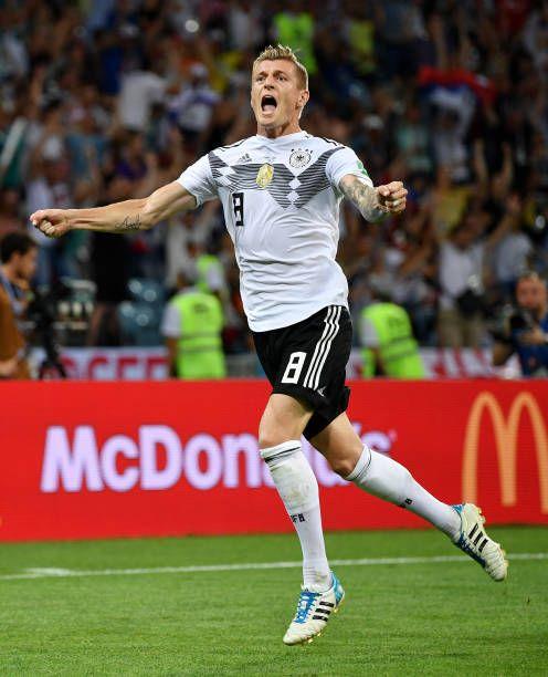 Toni Kroos Of Germany Celebrates Scoring His Sides Winning Goal Toni Kroos Germany National Football Team Soccer Coaching