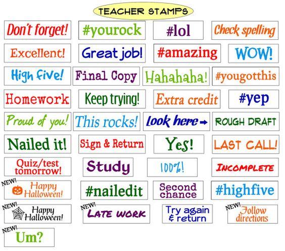 Teacher Homework Rubber Stamp - image 8