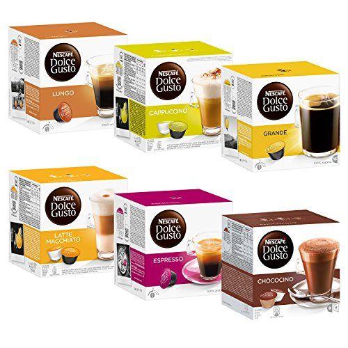 Nescaf Dolce Gusto Kapseln Basicset Lungo Cappucino Latte Macchiato Espresso Chococino Crema Grande 6 X 16 Capsules Dolce Gusto Latte Macchiato Nescafe Latte