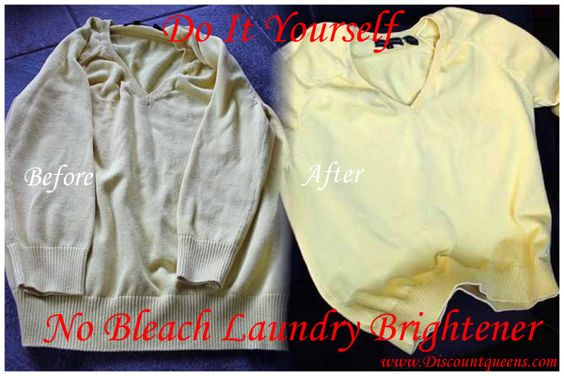 Do it Yourself No Bleach Laundry Brightener!!