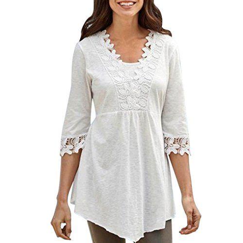 HAVANSIDY Chemises Henley Femme Tunique Tops Bouton up T-Shirts D/écontract/és /À Manches Longues