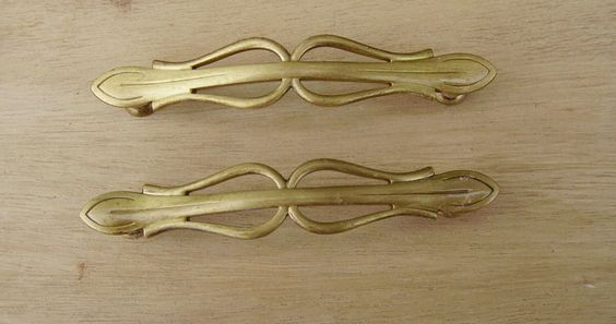 Antique French Brass Drawer Pulls Furniture Hardware (16.00 USD) by vintagefrancedirect