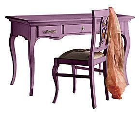 scrivania in legno massiccio ERICA lilla - 130x78x70 cm