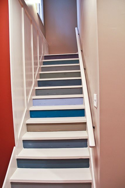 Painted Basement Basement Stairwell Basement Steps Basement Bling