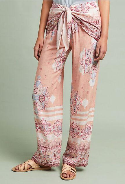 Anthropologie Dubai Tie-Front Pants
