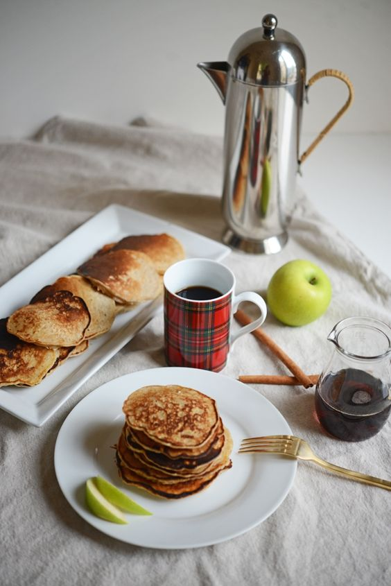 Apple Cinnamon Pancakes #pancake