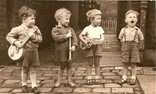 oh the cuteness. Children with instruments.
