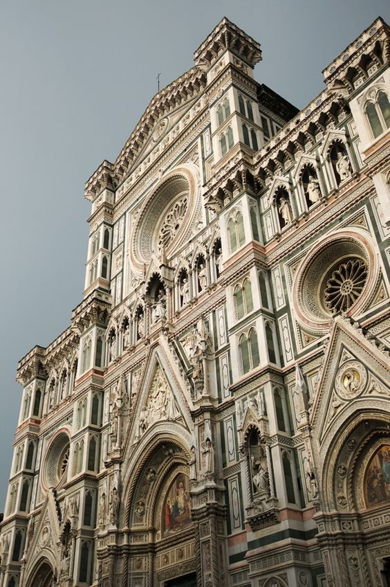 The Duomo in Florence, Italy - standing in front of it, taking in its detail, is awe inspiring