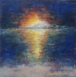 Ocean Sunset by Margaret Sue Turner Wright in the FASO Daily Art Show