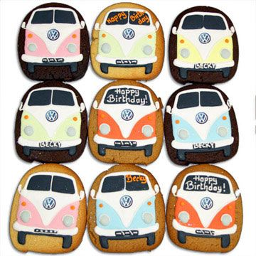 VW bus cookies.
