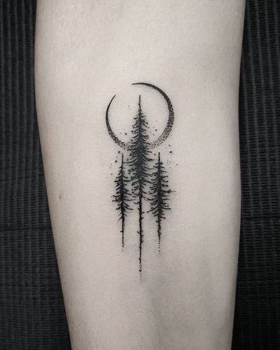 Amazing Pine Tree Tattoo Ideas For Men In 2020 Small Nature Tattoo Nature Tattoos Tattoos