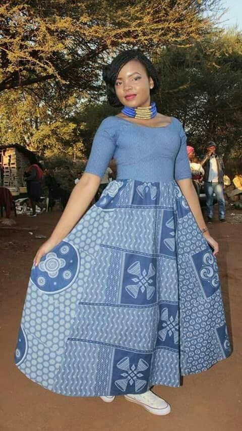 Shweshwe Dresses for Makoti 2018 - 2020