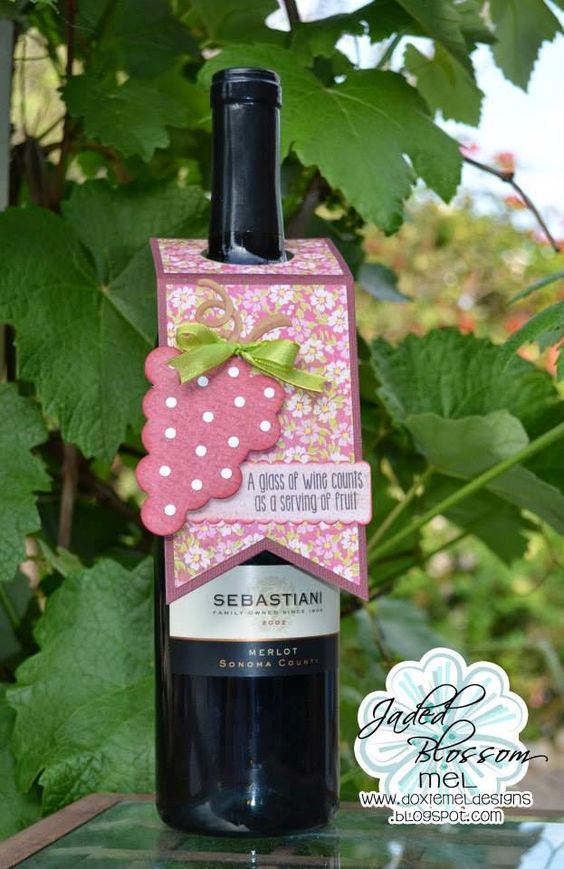 Jaded Blossom April Release Day 1 :: Wine Tag - Doxie Mel Designs