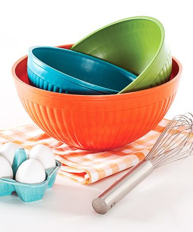 Love this Prep & Serve Mixing Bowl Set on #zulily! #zulilyfinds