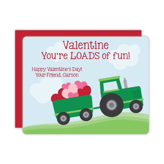 Tractor Valentine Cards : Tractor valentines day card valentine s cards for