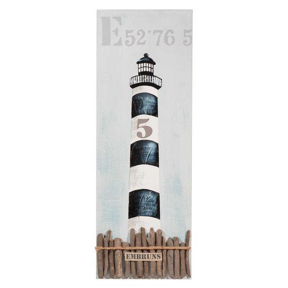 toile phare des embruns maisons du monde seaside pinterest toile. Black Bedroom Furniture Sets. Home Design Ideas