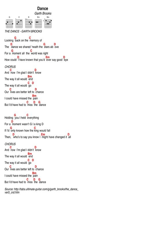 Garth Brooks song: The River, lyrics and chords | Guitar charts ...