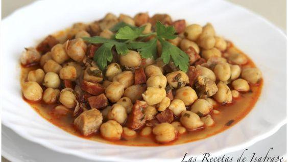 Garbanzos rápidos con carne y chorizo | Recetas Caseras Fáciles