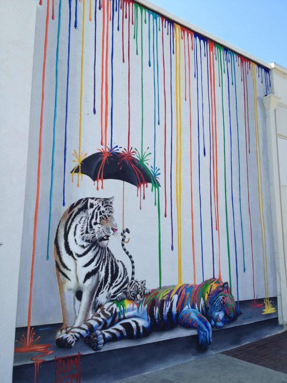 Streetart Prouesses De Graffiti Urbain à Voir Absolument - Beautiful street murals appear on roads only when it rains
