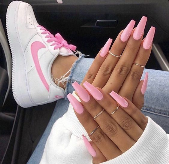 Lovely Pink Nail Color For Holiday 2019 Pink Acrylic Nails Pink