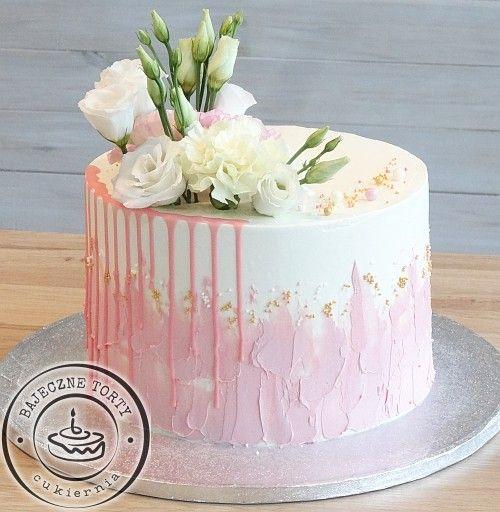 Tort Z Kwiatami Cake Design Cake Desserts
