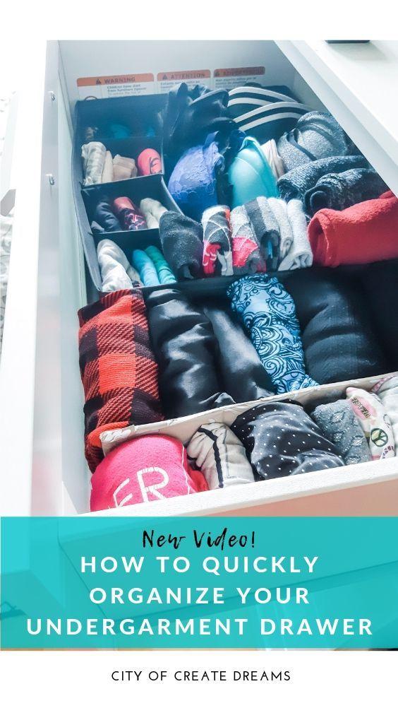 Organize Your Undergarment Drawer