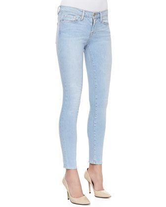 Le Skinny Light-Wash Jeans, Redchurch Street by Frame Denim at Bergdorf Goodman.