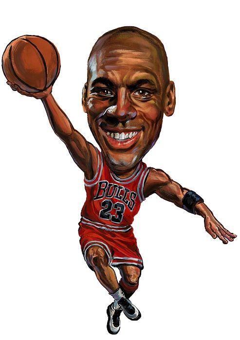 Resultado de imagen de caricatura michael jordan