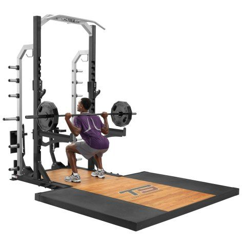 Cybex Big Iron 1 2 Power Rack At Home Gym Gym Decor Diy Home Gym
