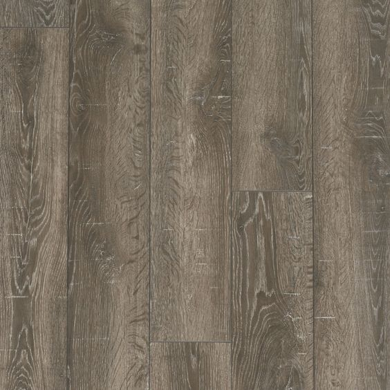 Style selections 6.14 in w x 3.96 ft l park lodge oak embossed ...