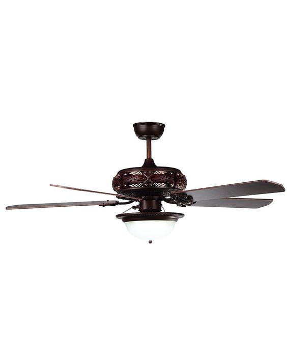 Modern Style Ember Finish Rosewood Ceiling Fan
