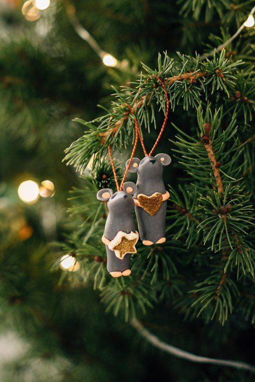 Tiny Mouse Star Ornament Diy Christmas Ornaments Star Ornament Ornaments