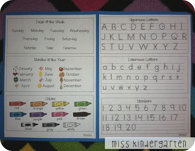 Miss Kindergarten: Training Independent Learners.  Great idea for my ESL girls!