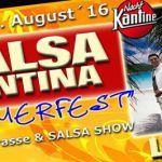 Salsa Cantina Sommerfest mit Liveband Chico Diaz & Orquesta Salsaborrr    SALSA CANTINA SOMMERFEST   Liebe Salsa Cantina-Freunde am Samstag den 27. August laden wir euch alle herzlich ein zu unserem Sommerfest! Als musikalisches Highlight konnten wir CHICO DIAZ & ORQUESTA SALSABORRR gewinnen! Sie werden euch mit ihrem mitreißenden Repertoire eine tanzfreudige Sommernacht bereiten! Neben Sommercocktails und bester Musik wird die Choreogruppe von []  Mehr Salsa Bachata Kizomba Informationen…