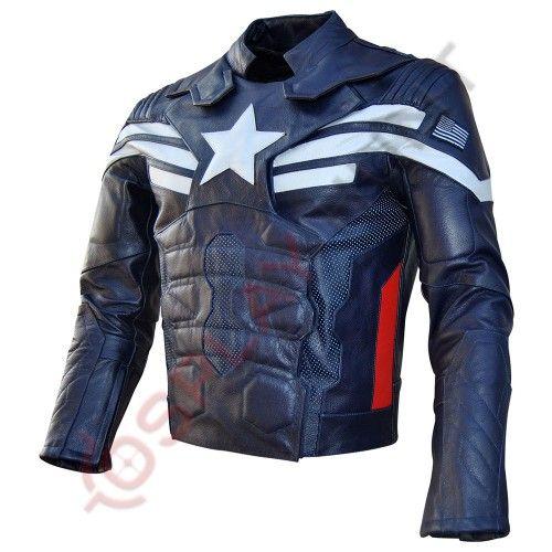 Chris Evans Captain America Winter Soldier Faux Leather Jacket
