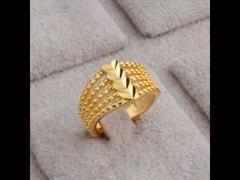 Stylish Gold Rings Designs With Weight Youtube Black Hills Gold Jewelry Gold Jewelry Fashion Gold Earrings Designs