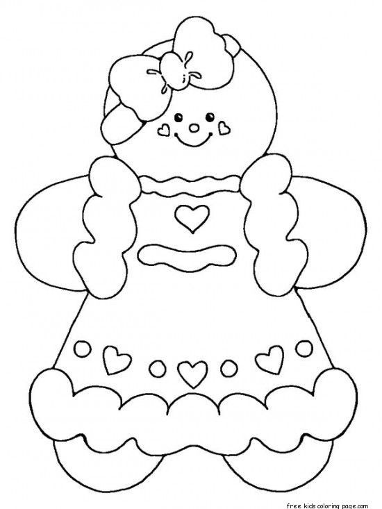 Printable Gingerbread Man Coloring Pages For Kidsfree Printable