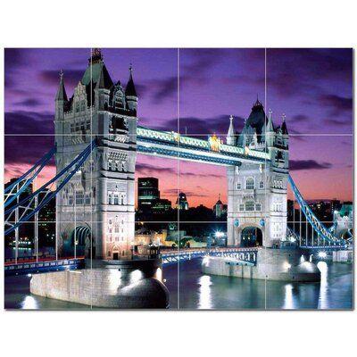 Picture Tiles Com 32 X 24 Ceramic City Photo Decorative Mural Tile 404481 8 X 8 Set Of 12 Tower Bridge London Places To Travel London Travel