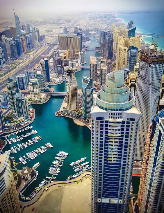 Dubai Marina, by Manu Gopal