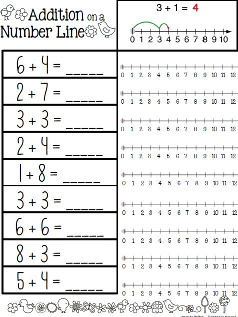 math worksheet : inspired in second shop teachers notebook  addition on a  : Number Line Math Worksheets