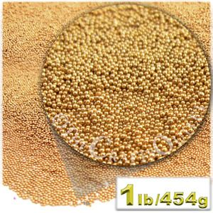 Glass Microbeads, Caviar Metallic, 0.6mm, 1-LB, Light Orange
