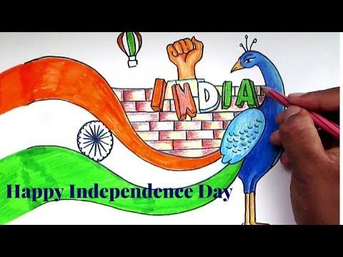 Creative Drawing Happy Independence Day For Kids Youtube Independence Day Drawing Happy Independence Day Images Independence Day Pictures